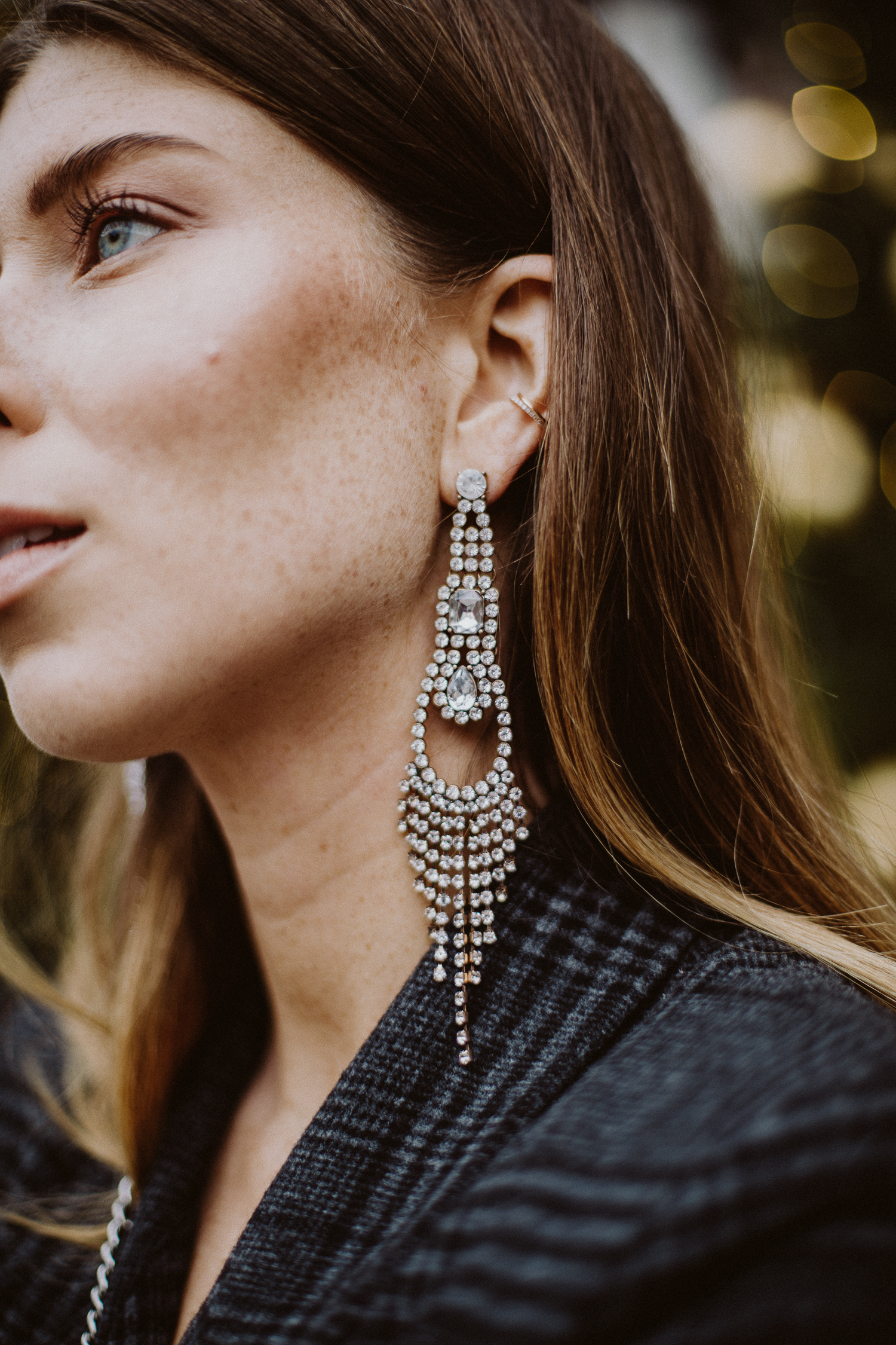 Crystal Earrings for New Year's Eve | Bikinis & Passports