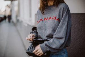 the boyfriend sweater: Canada sweatshirt   Bikinis & Passports