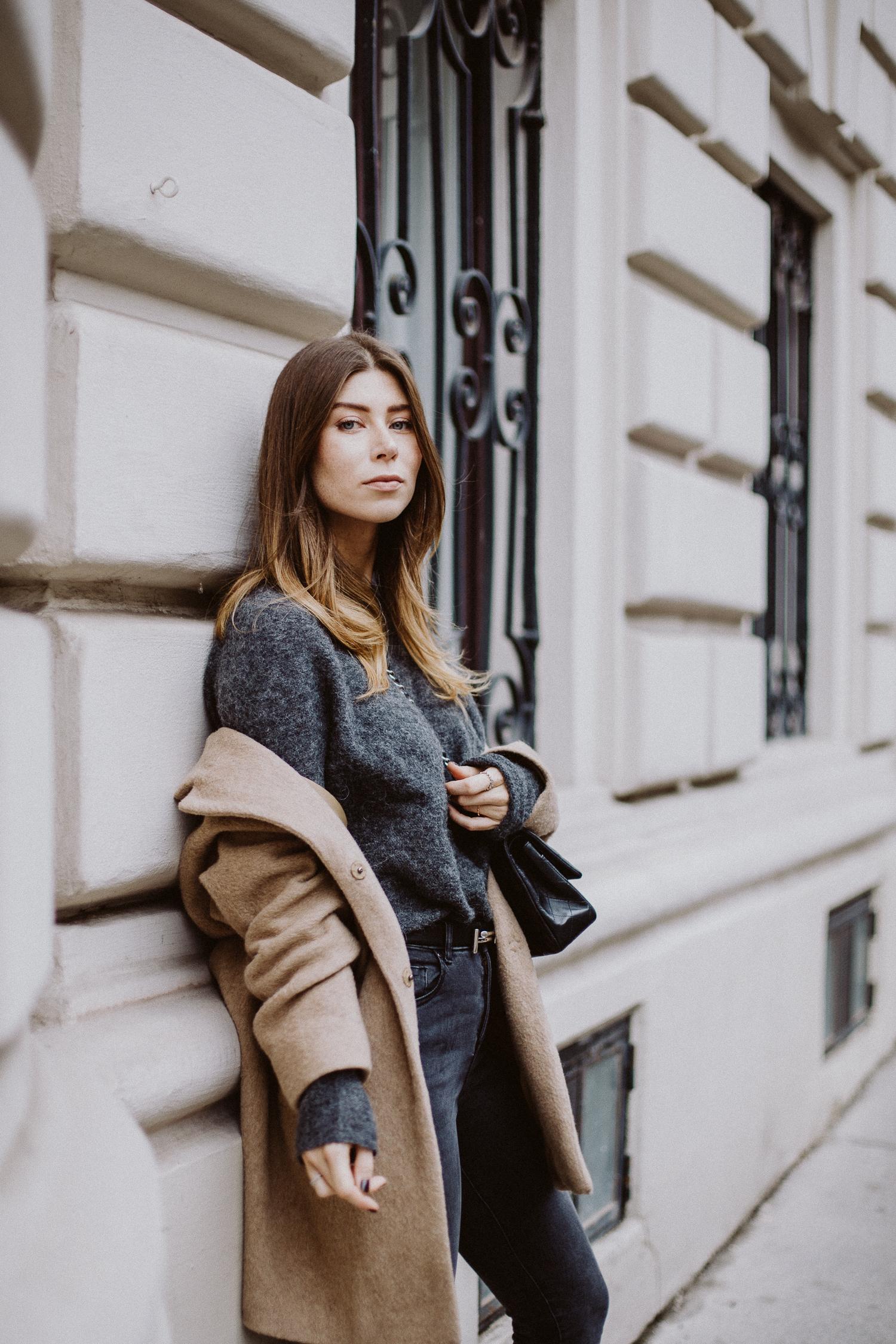 Camel Coat Outfit | Bikinis & Passports