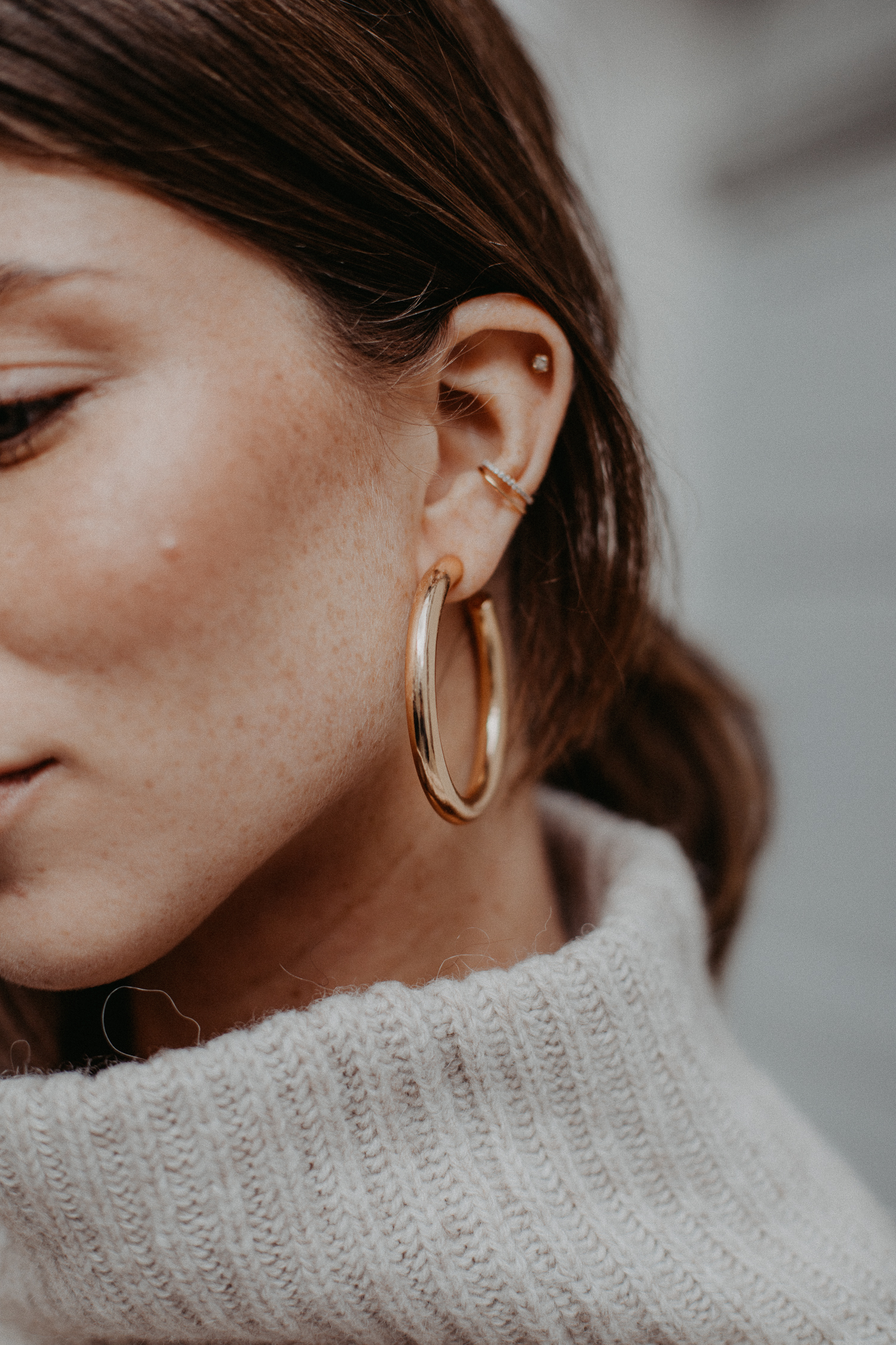 MANGO golden hoop earrings   Bikinis & Passports