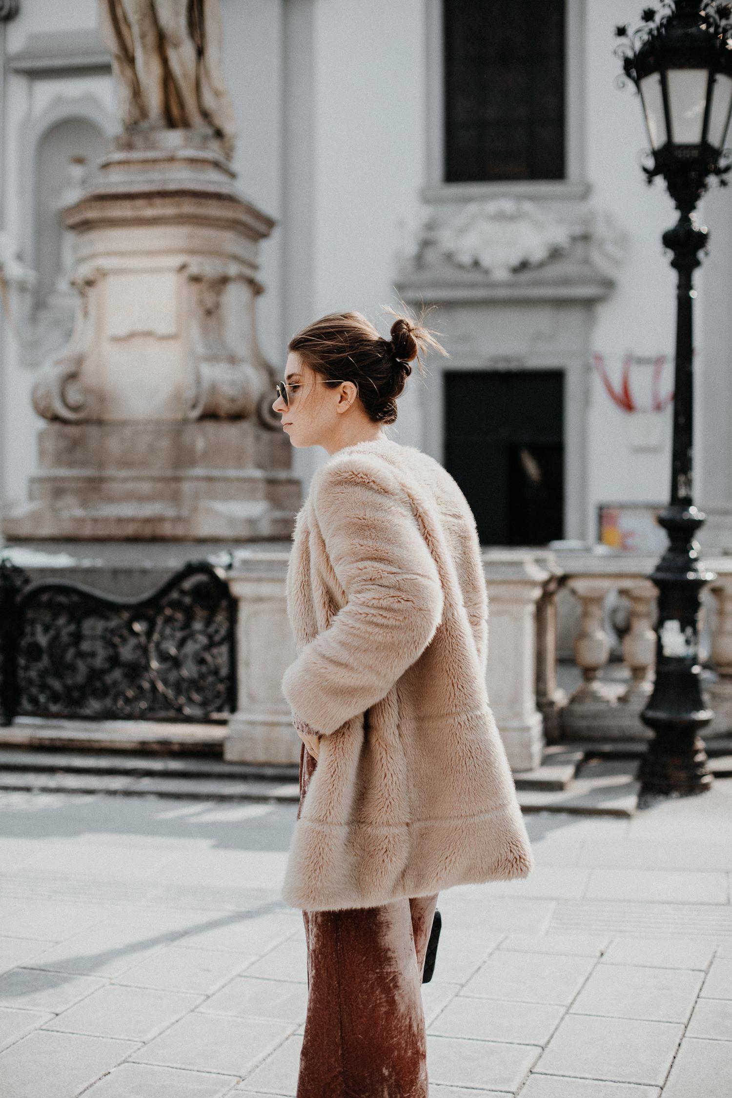 Zara faux fur coat | Bikinis & Passports