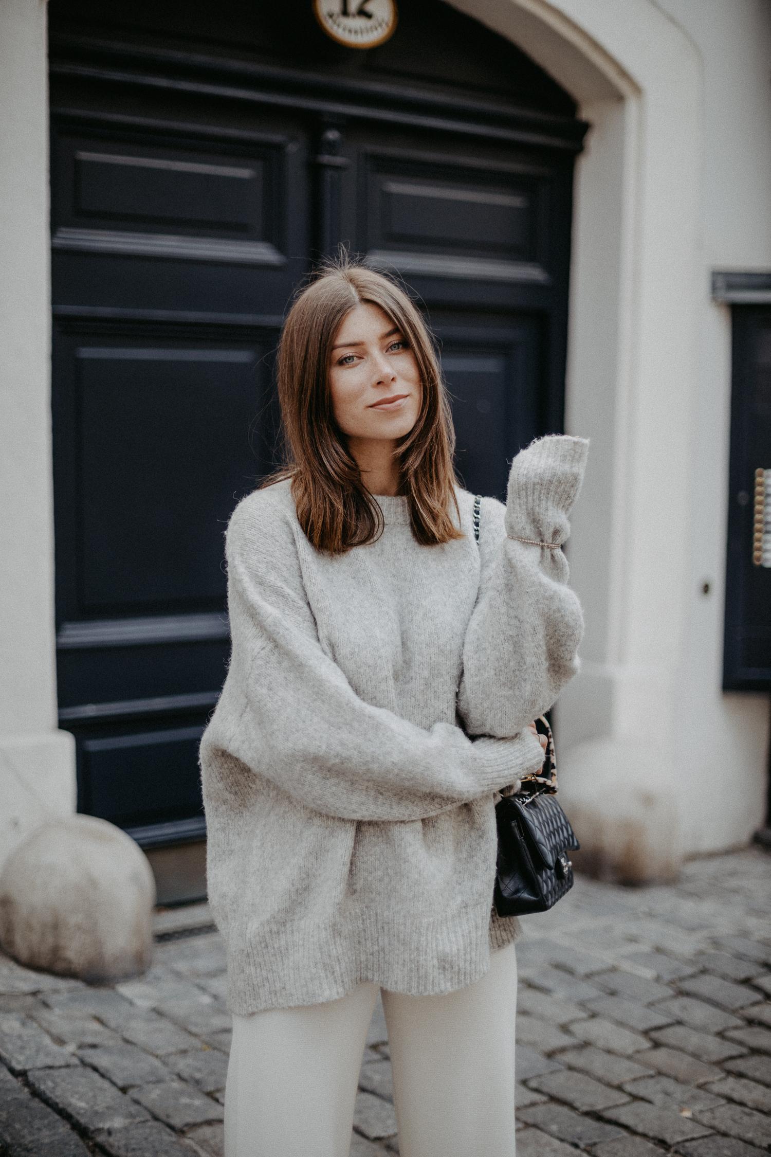 oversize gray sweater | Bikinis & Passports