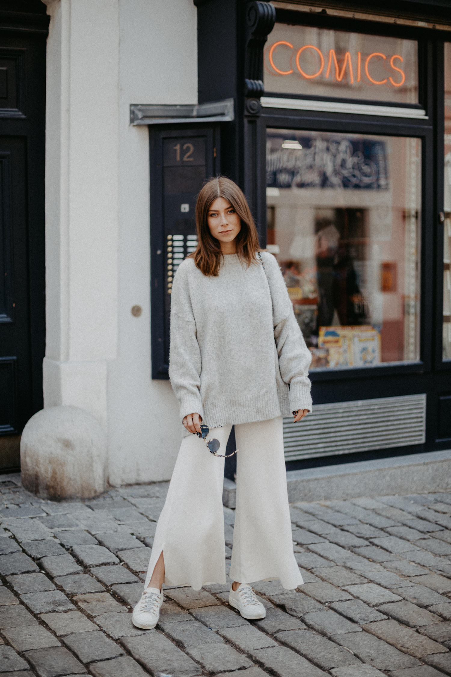 ZARA white sweat culottes | Bikinis & Passports