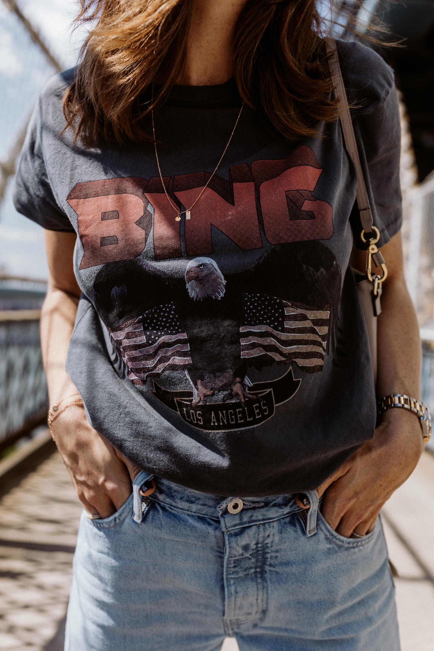 Anine Bing: Vintage Bing Tee - Black