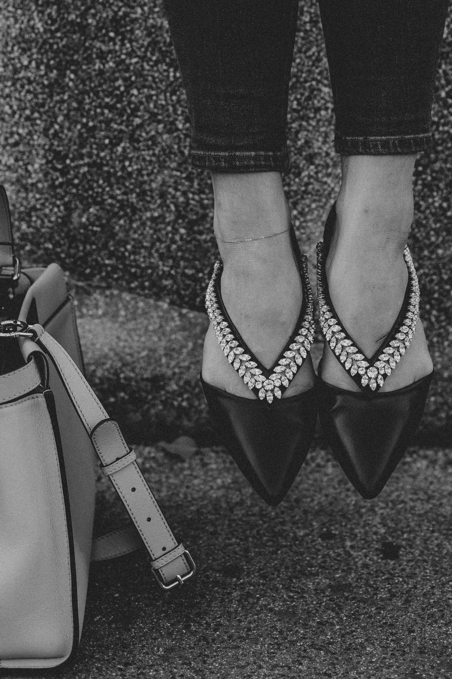Roger Vivier Flats, Fendi Peekaboo bag | Bikinis & Passports