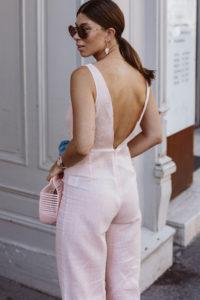 Rosé Linen Jumpsuit by Arkitaip - Bikinis & Passports