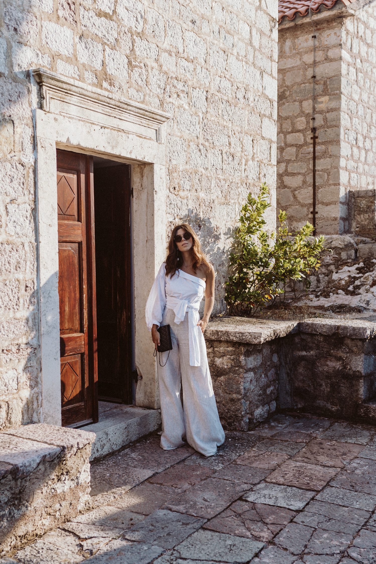 Miguelina linen wide-leg pants | Bikinis & Passports