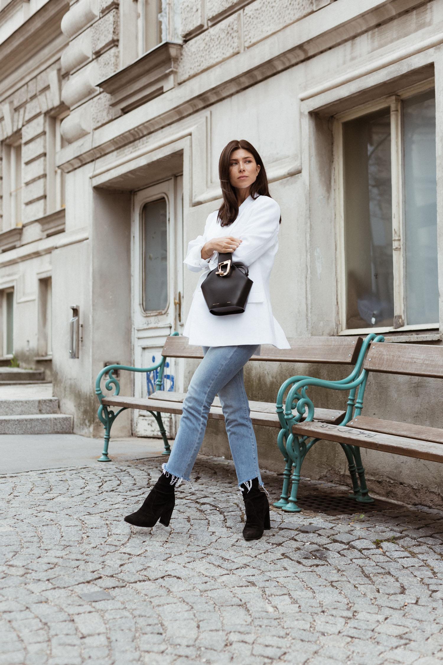 Mytheresa Free Shipping: How to style a white blazer - Bikinis & Passports