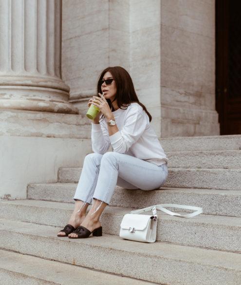 Chanel Mules: 50mm logo mules - Bikinis & Passports