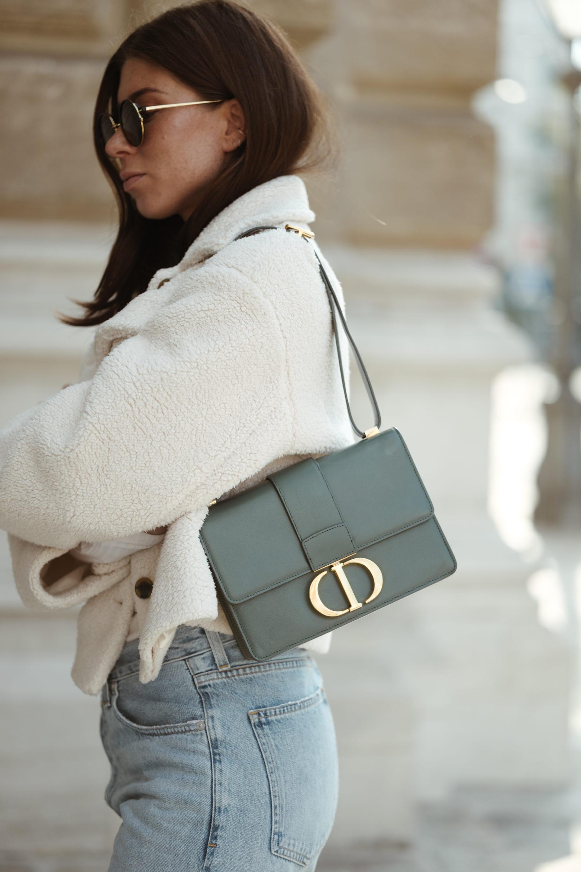 Dior 30 Montaigne Bag Storm Blue - Bikinis & Passports