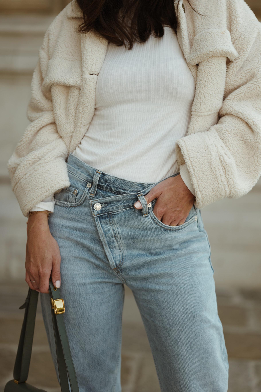 AGOLDE criss cross upsized wide jeans - Bikinis & Passports