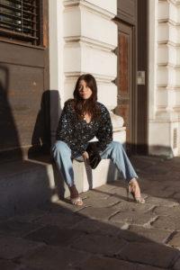 Holidays Sequins: ROTATE Birger Christensen Masha Sequin top - Bikinis & Passports