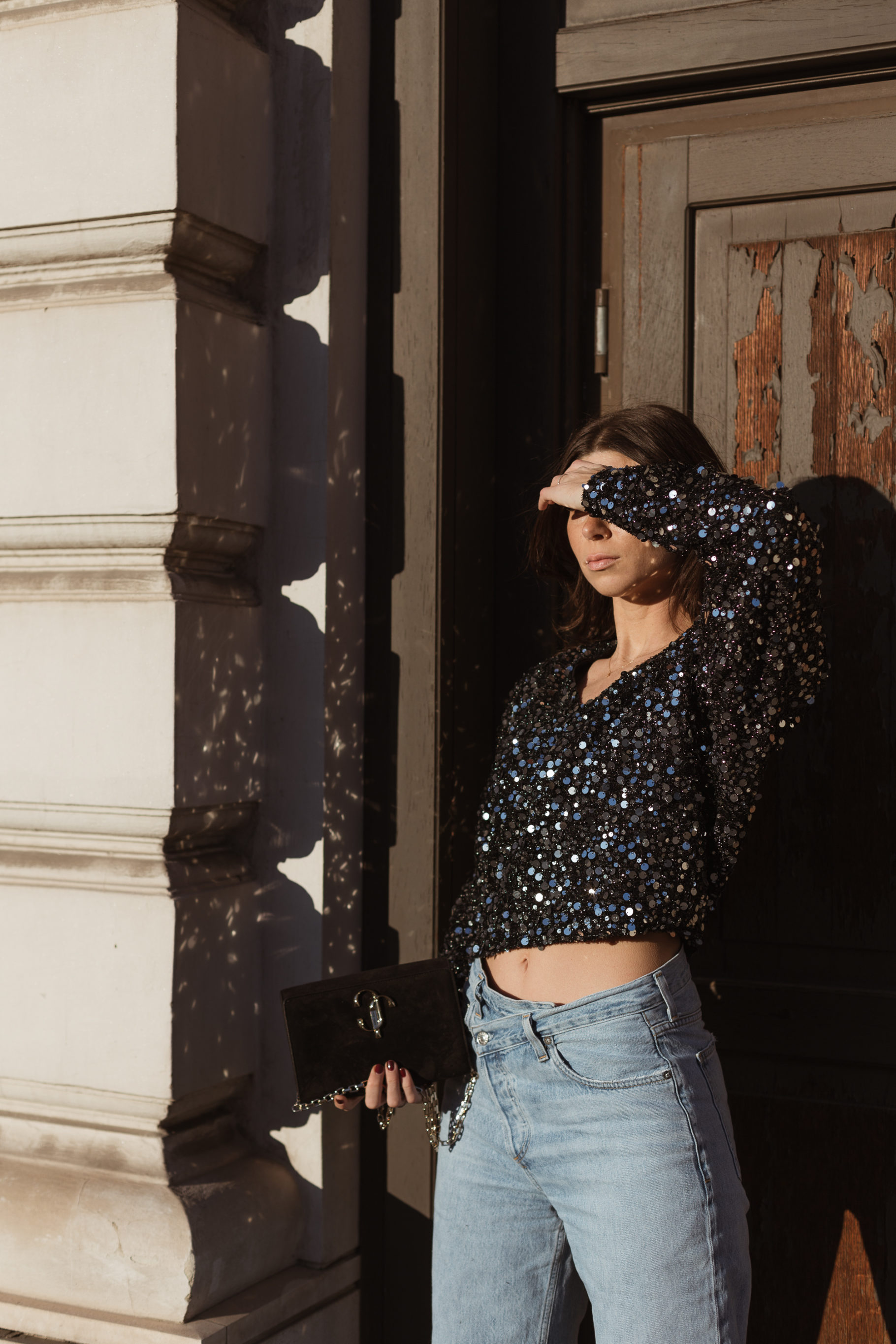 Holidays Sequins: ROTATE Birger Christensen Masha Sequin top - Bikinis & Passports